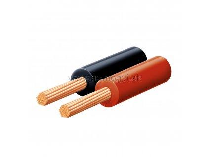 Reprokábel, červeno-čierny, 2x0.15 mm, KLS 0.15, 100 m balenie