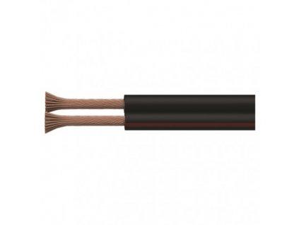 Dvojlinka ECO 2×1,0mm, čierno/červená, 100m