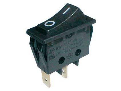 Prepínač kolískový 2pol./2pin ON-OFF 250V/15A čierny
