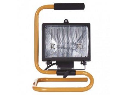 Halogénový reflektor 500W čierny s držiakom