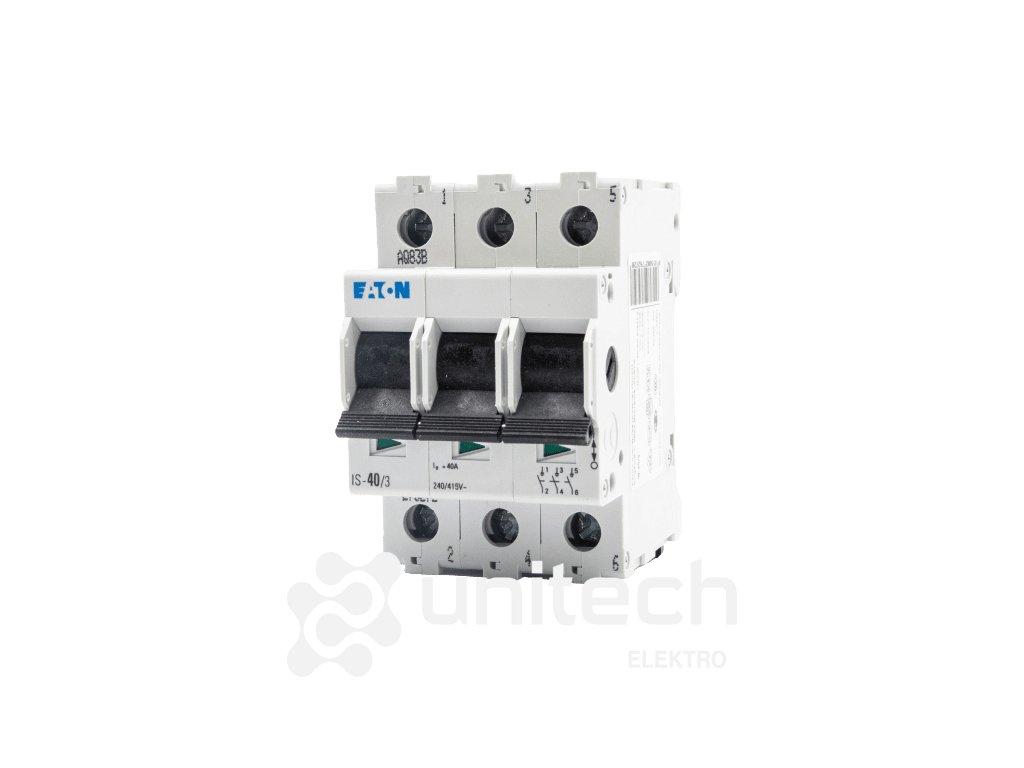 Hlavný vypínač IS-40/3-pól, 40A, EATON - 276272