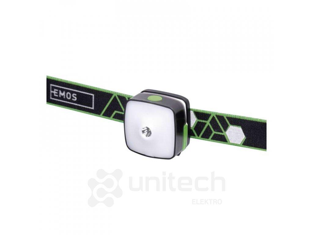 CREE + SMD LED nabíjatelná čelovka P3535, 110 lm, 55m, Li-Pol 850 mAh
