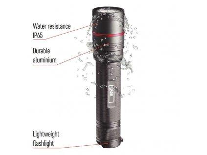 CREE LED nabíjacie kovové svietidlo Ultibright 80, 600lm