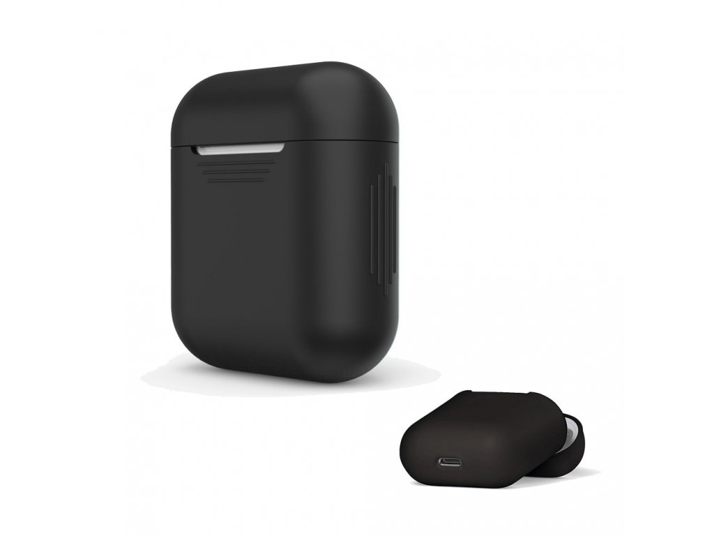 Apple Airpods ochranný kryt silikonový obal na beztrádová sluchátka černý