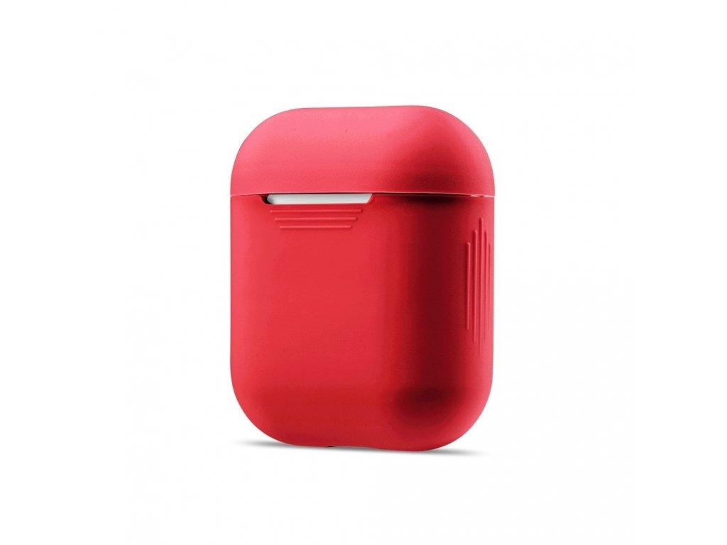 Apple Airpods ochranný kryt silikonový obal na beztrádová sluchátka červený