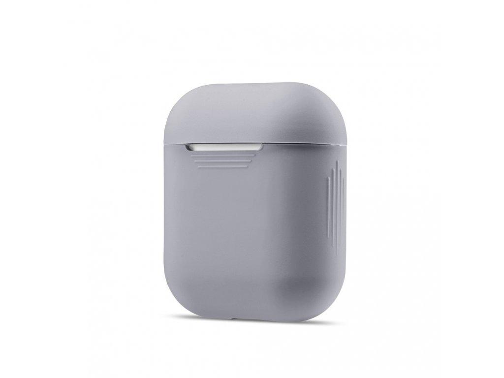 Apple Airpods ochranný kryt silikonový obal na beztrádová sluchátka šedý