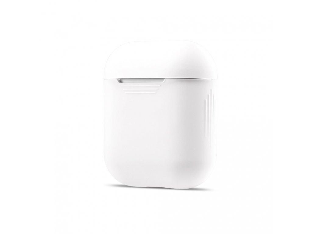Apple Airpods ochranný silikonový kryt obal na beztrádová sluchátka bílý
