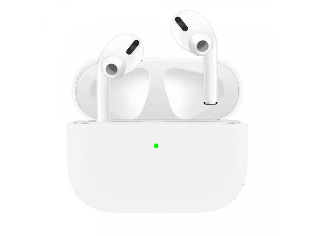 Apple Airpods Pro ochranný kryt silikonový obal na beztrádová sluchátka bílý
