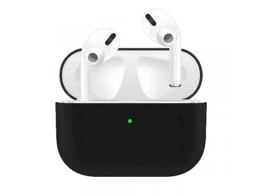 Apple Airpods Pro ochranný kryt silikonový obal na beztrádová sluchátka černý