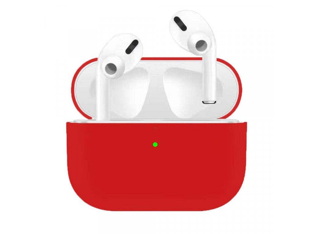Apple Airpods Pro ochranný kryt silikonový obal na beztrádová sluchátka červený