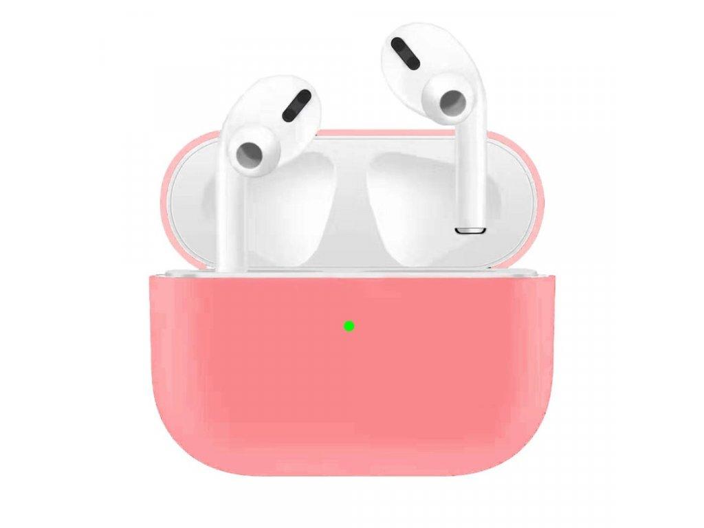 Apple Airpods Pro ochranný kryt silikonový obal na beztrádová sluchátka růžový