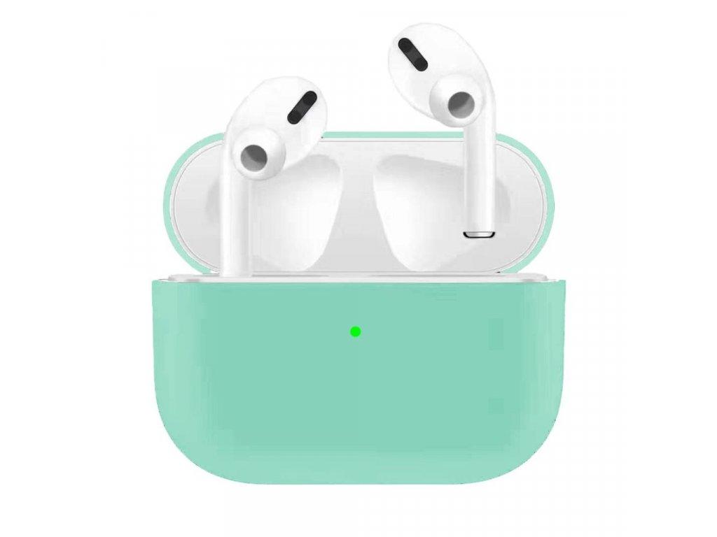 Apple Airpods Pro ochranný kryt silikonový obal na beztrádová sluchátka světle zelený