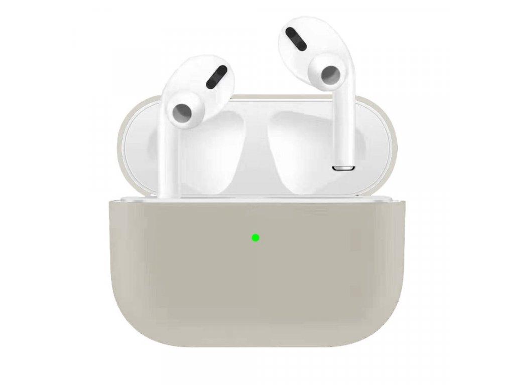Apple Airpods Pro ochranný kryt silikonový obal na beztrádová sluchátka šedý