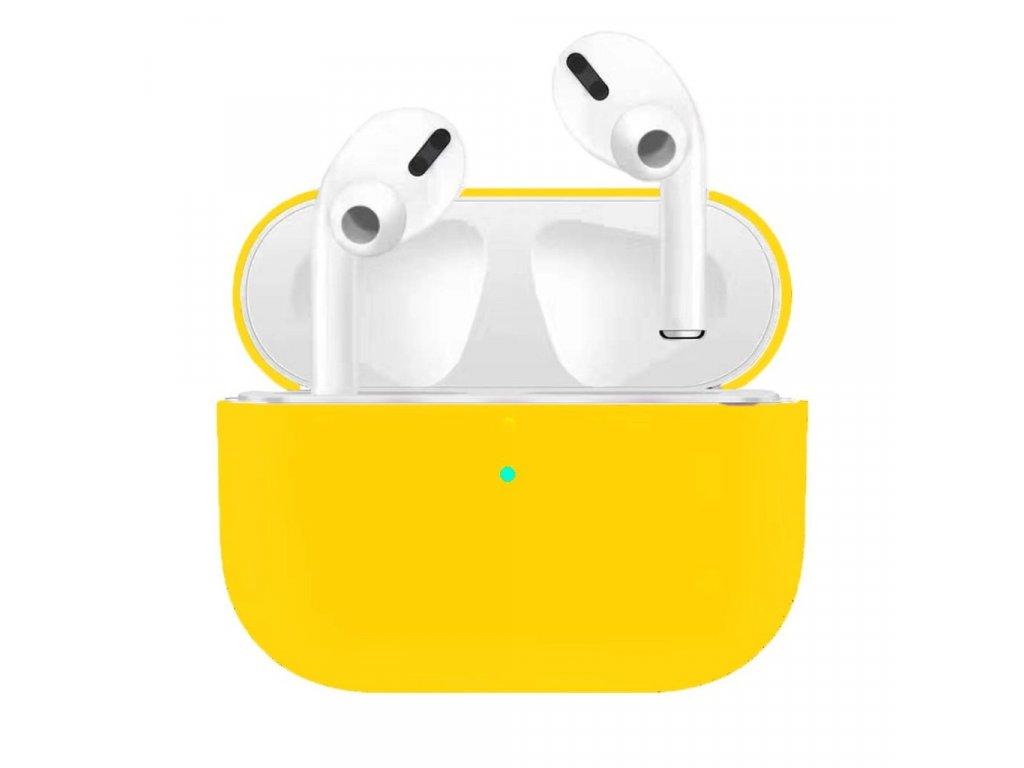 Apple Airpods Pro ochranný kryt silikonový obal na beztrádová sluchátka žlutý