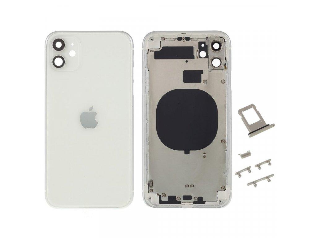 """Apple iPhone 11 zadní kryt baterie bílý včetně středního rámečku 6.1"""""""