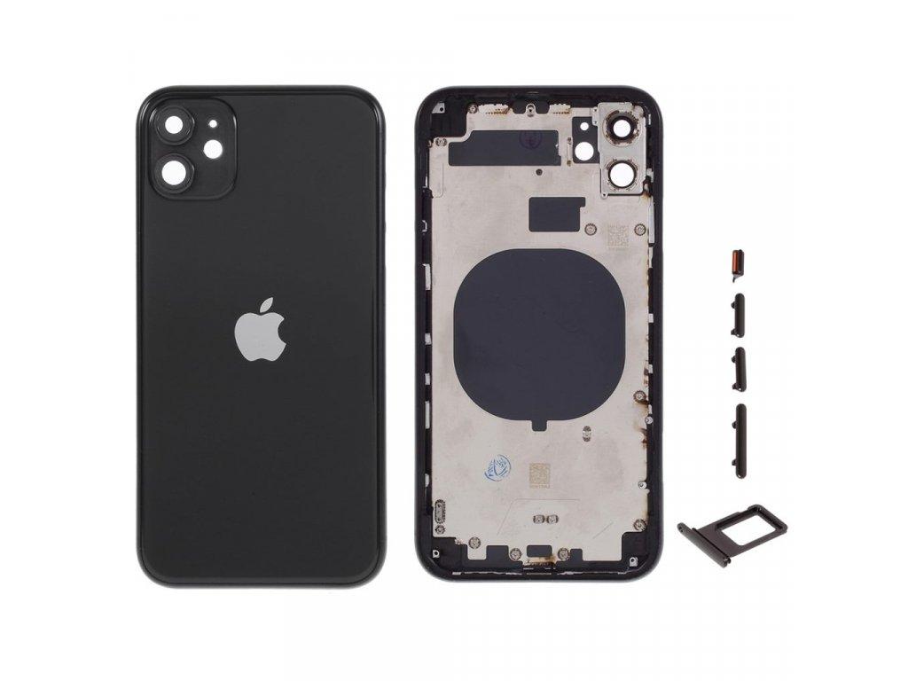 """Apple iPhone 11 zadní kryt baterie černý včetně středního rámečku 6.1"""""""