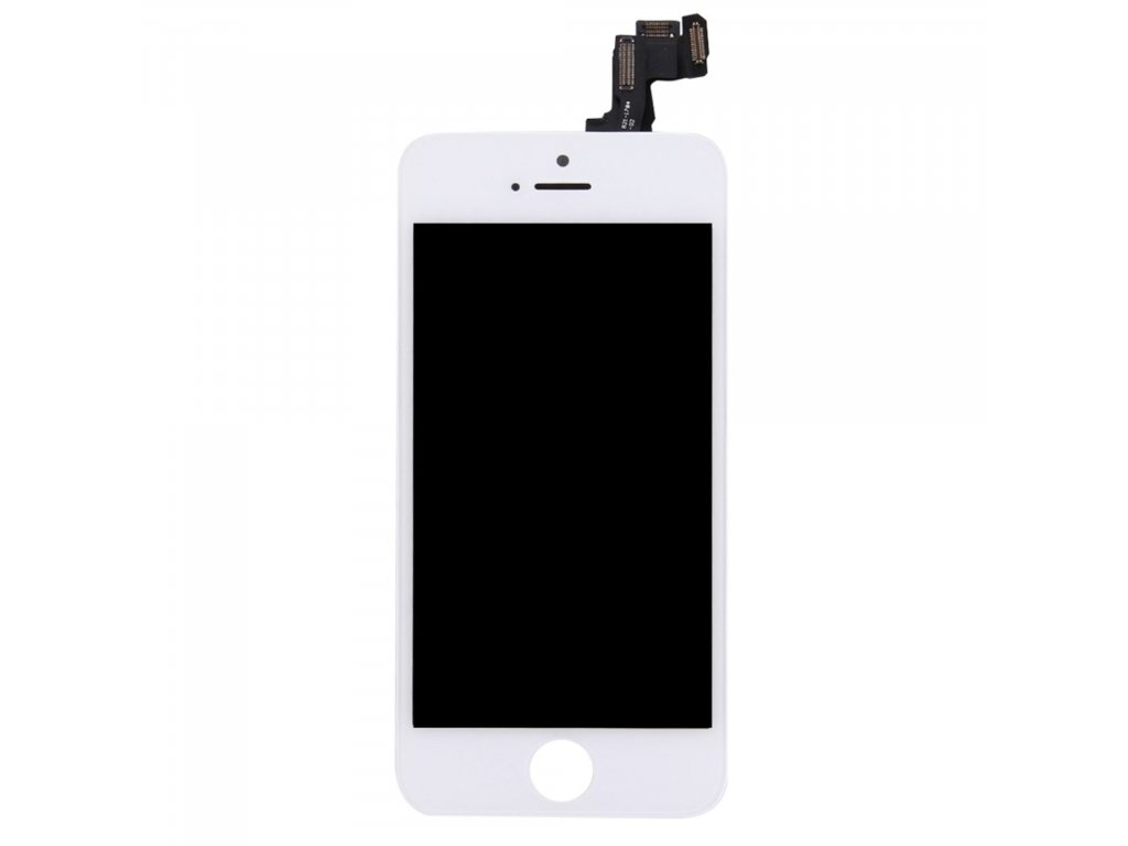 Apple iPhone 5S / SE LCD displej dotykové sklo bílé komplet přední panel včetně osázení