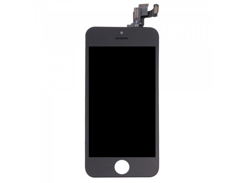 Apple iPhone 5S / SE LCD displej dotykové sklo černé komplet přední panel včetně osázení