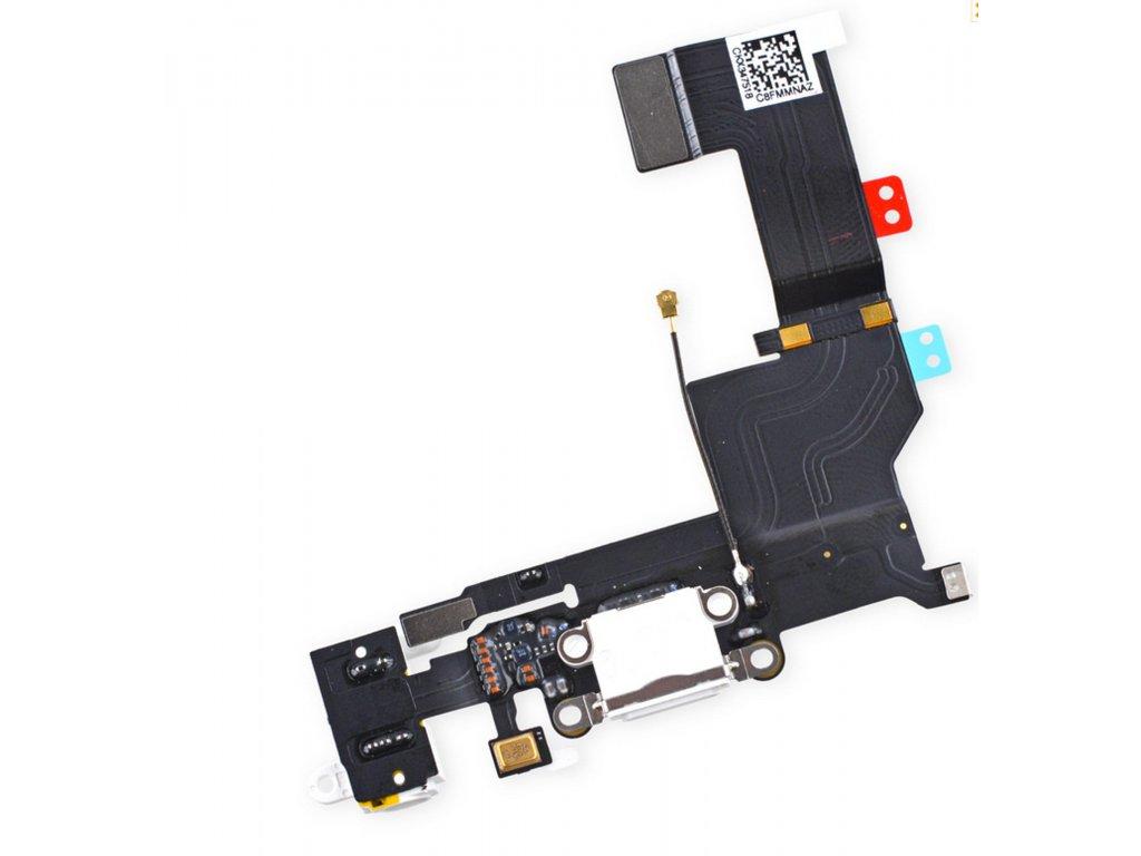 Apple iPhone 5S dock konektor nabíjení mikrofon anténa bílý