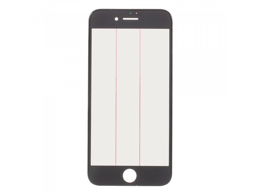 Apple iPhone 7 krycí náhradní sklo černé včetně OCA rámečku a LCD polarizační vrstvy