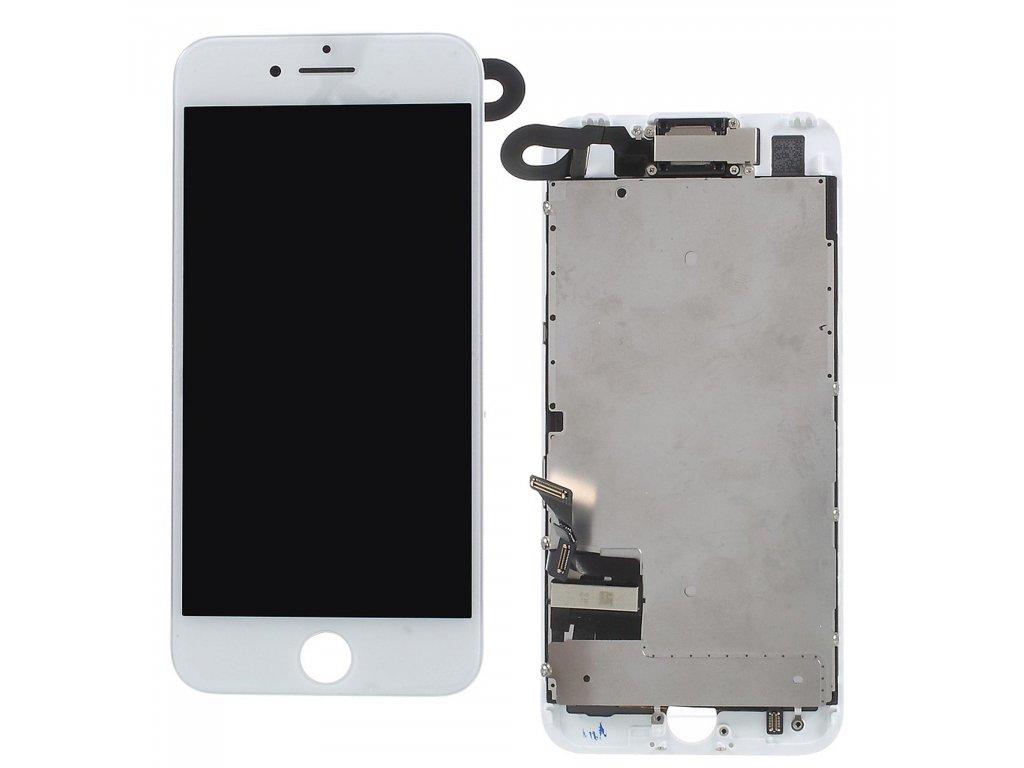 Apple iPhone 7 LCD displej dotykové sklo bílé jasnější podsvit komplet osazený včetně přední kamery