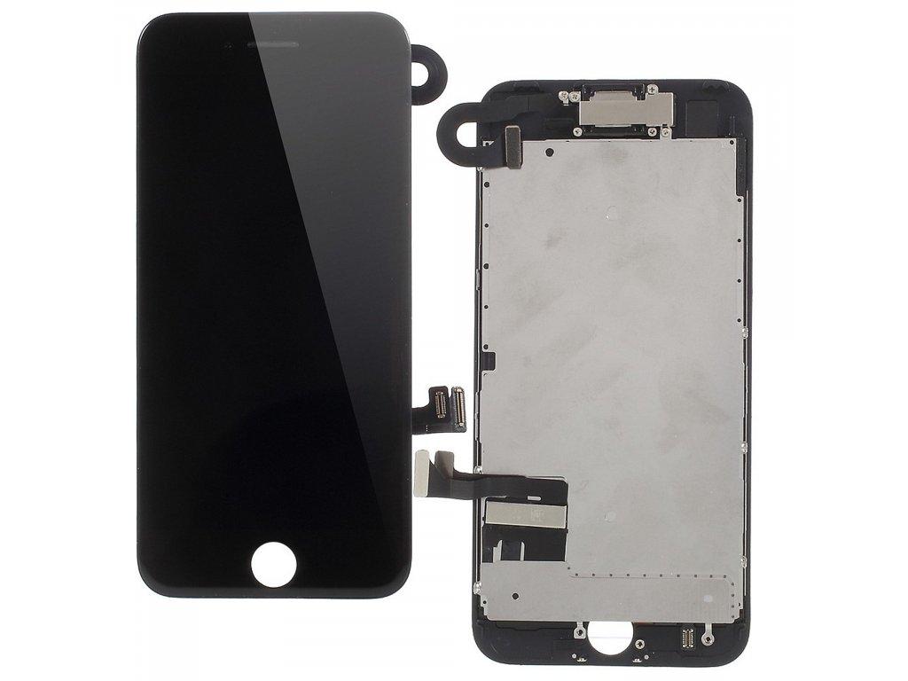 Apple iPhone 7 LCD displej dotykové sklo černé jasnější podsvit komplet osazený včetně přední kamery