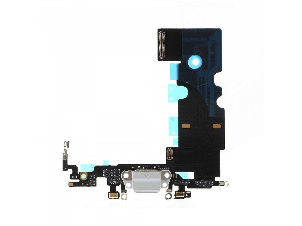 Apple iPhone 8 dock konektor nabíjení napájecí flex lightning port sluchátka šedý