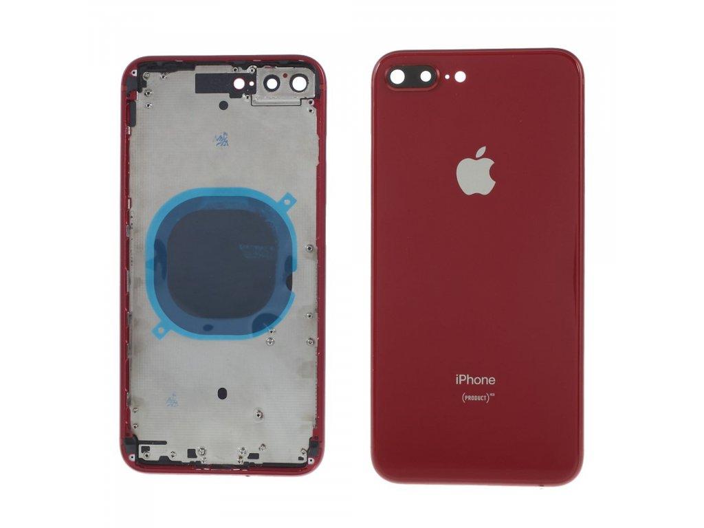 Apple iPhone 8 Plus zadní kryt baterie včetně středového rámečku telefonu červený red (product)