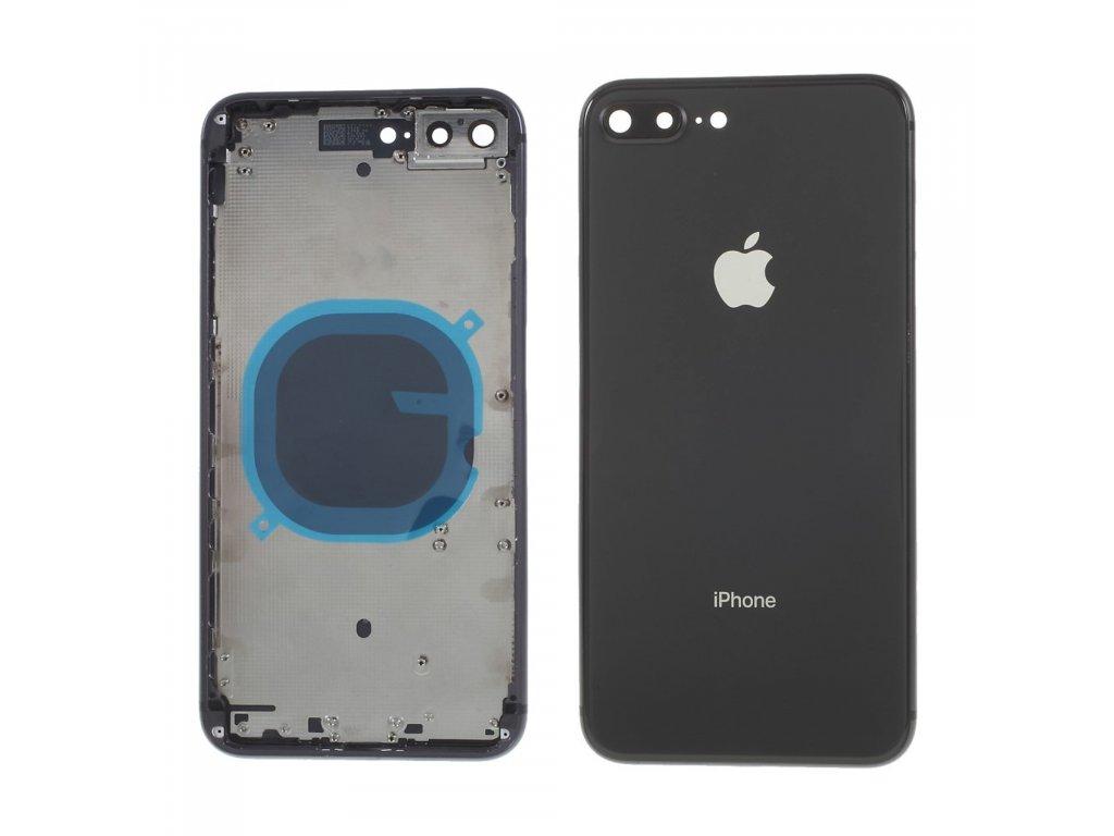 Apple iPhone 8 Plus zadní kryt baterie včetně středového rámečku telefonu šedý space grey