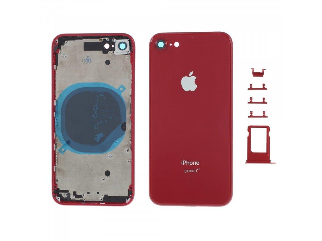 Apple iPhone 8 zadní kryt baterie včetně středového rámečku telefonu červený RED product