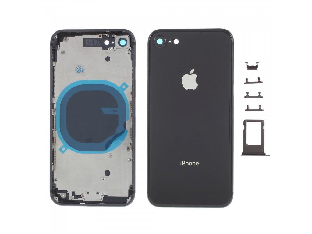 Apple iPhone 8 zadní kryt baterie včetně středového rámečku telefonu šedý space grey