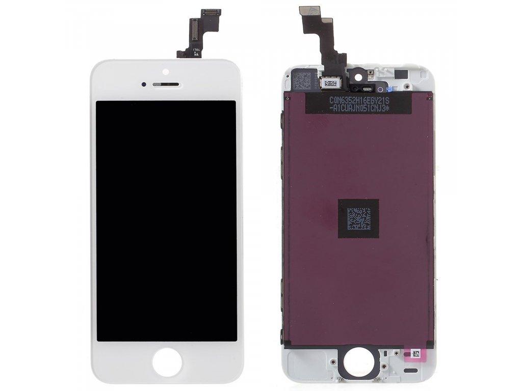 Apple iPhone SE / 5S LCD displej dotykové sklo bílé originální