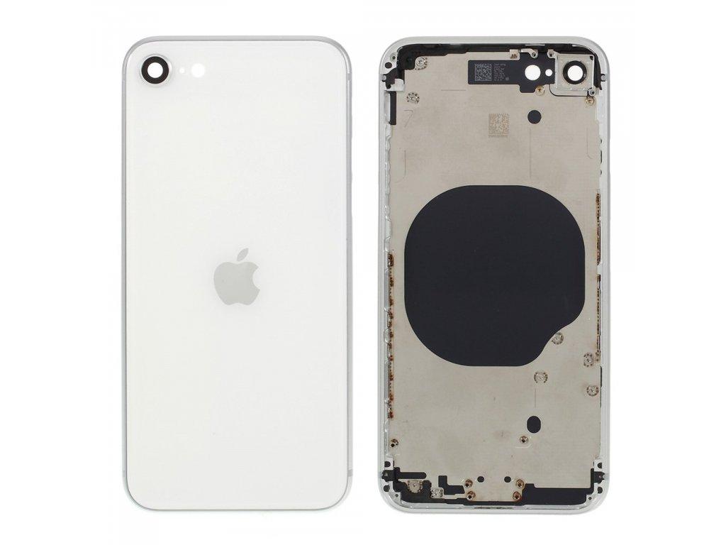 Apple iPhone SE 2020 zadní kryt baterie včetně středového rámečku bílý