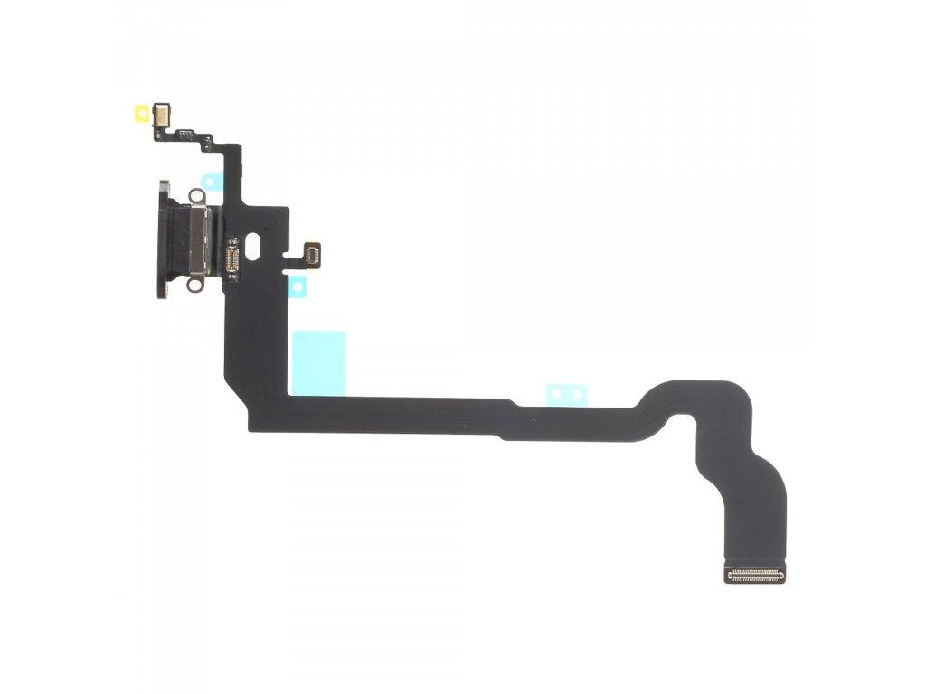 Apple iPhone X nabíjecí konektor flex mikrofon lightning dock port černý OEM