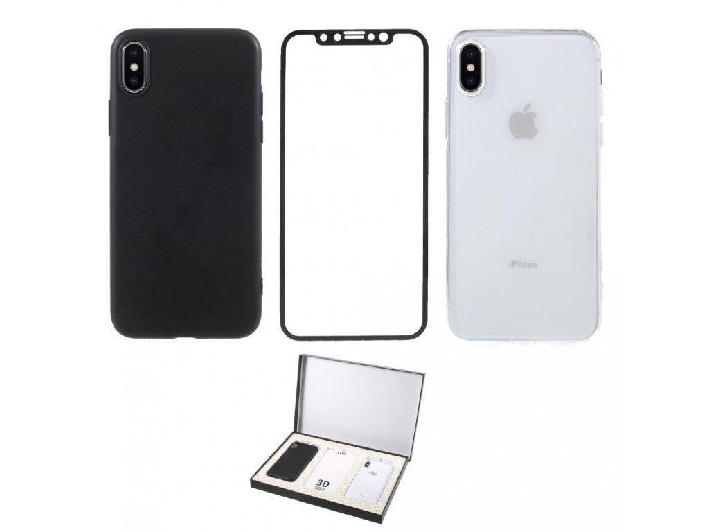 Apple iPhone X XS NEX Perfect Suit Series set 2ks ochranný obal + tvrzené sklo