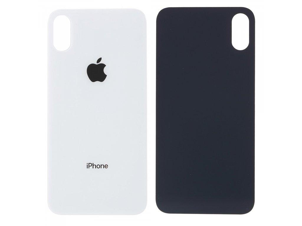 Apple iPhone X zadní skleněný kryt baterie bílý s větším otvorem pro kameru
