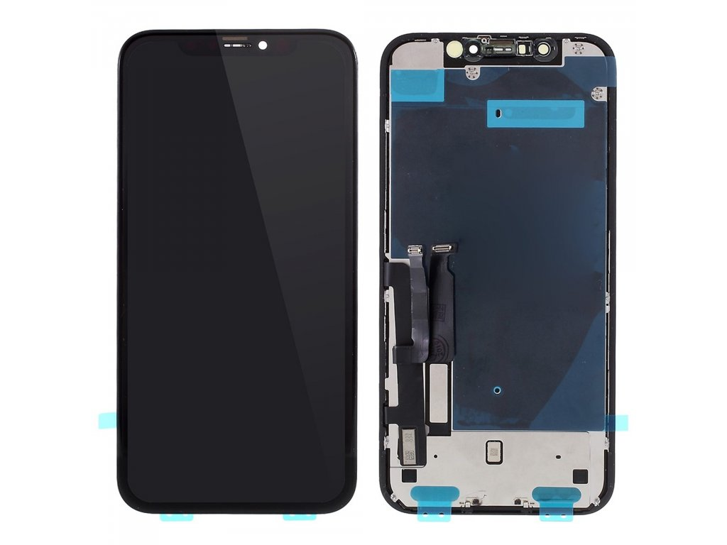 Apple iPhone XR LCD displej přední komplet panel včetně plechového krytu podsvícení (in-cell)