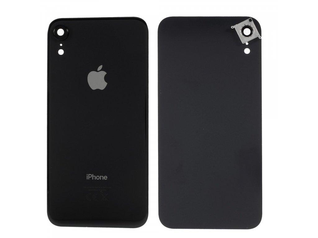 Apple iPhone XR zadní kryt baterie včetně krytky čočky fotoaparátu černý