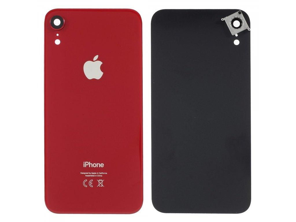 Apple iPhone XR zadní kryt baterie včetně krytky čočky fotoaparátu červený RED product