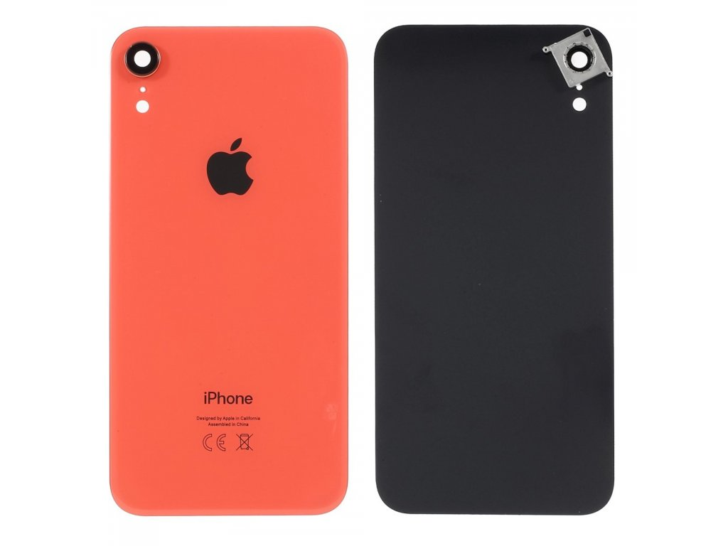 Apple iPhone XR zadní kryt baterie včetně krytky čočky fotoaparátu korálově oranžová
