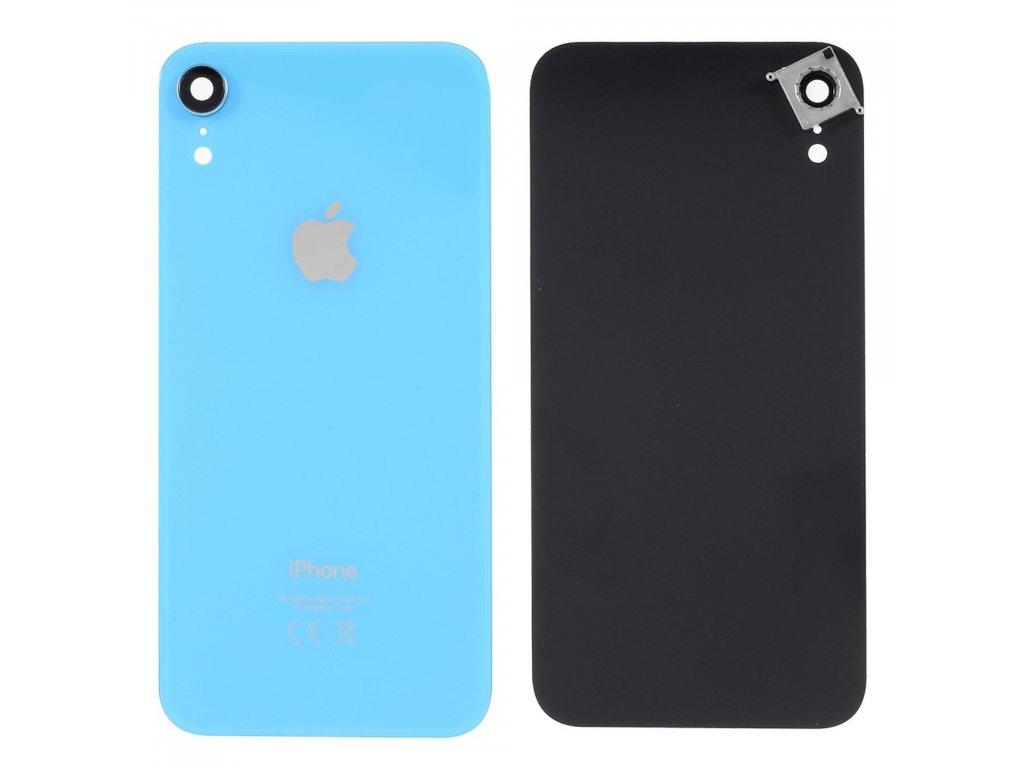 Apple iPhone XR zadní kryt baterie včetně krytky čočky fotoaparátu modrý
