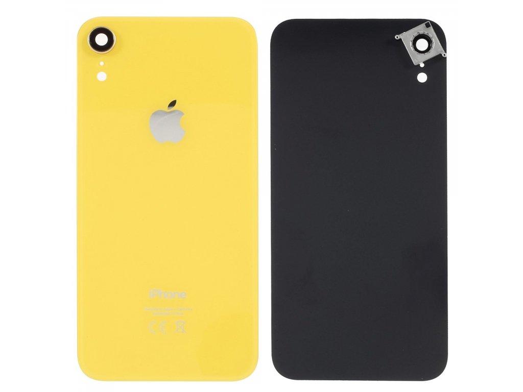 Apple iPhone XR zadní kryt baterie včetně krytky čočky fotoaparátu žlutý