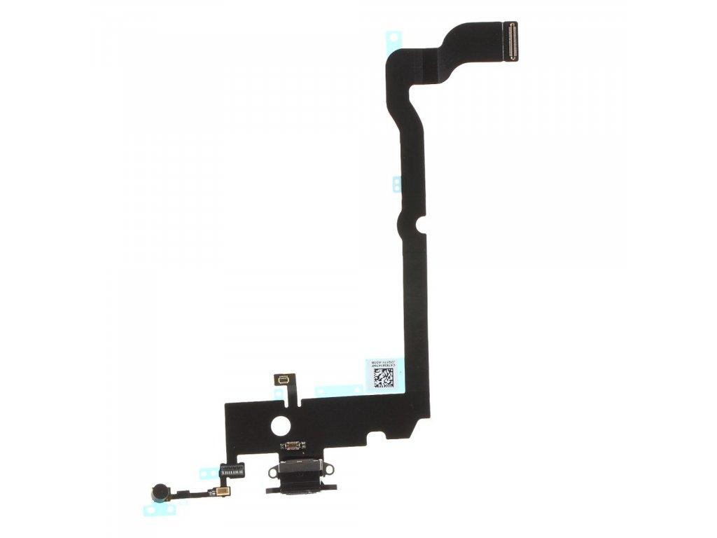 Apple iPhone XS MAX nabíjecí konektor flex mikrofon lightning port černý OEM