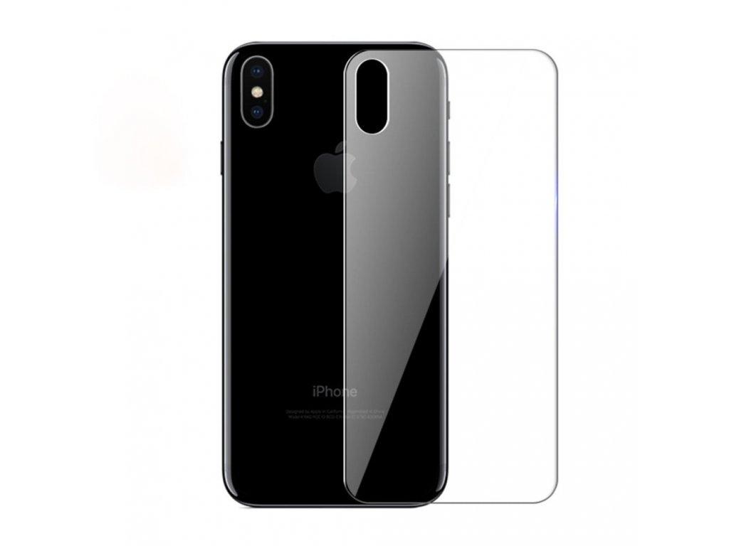 Apple iPhone XS Max Ochranné tvrzené sklo na zadní kryt baterie transparent