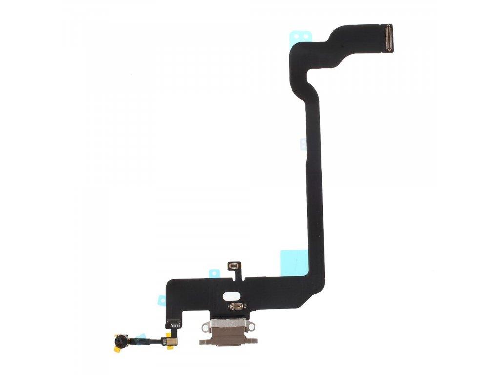 Apple iPhone XS nabíjecí konektor flex mikrofon lightning port zlatý OEM
