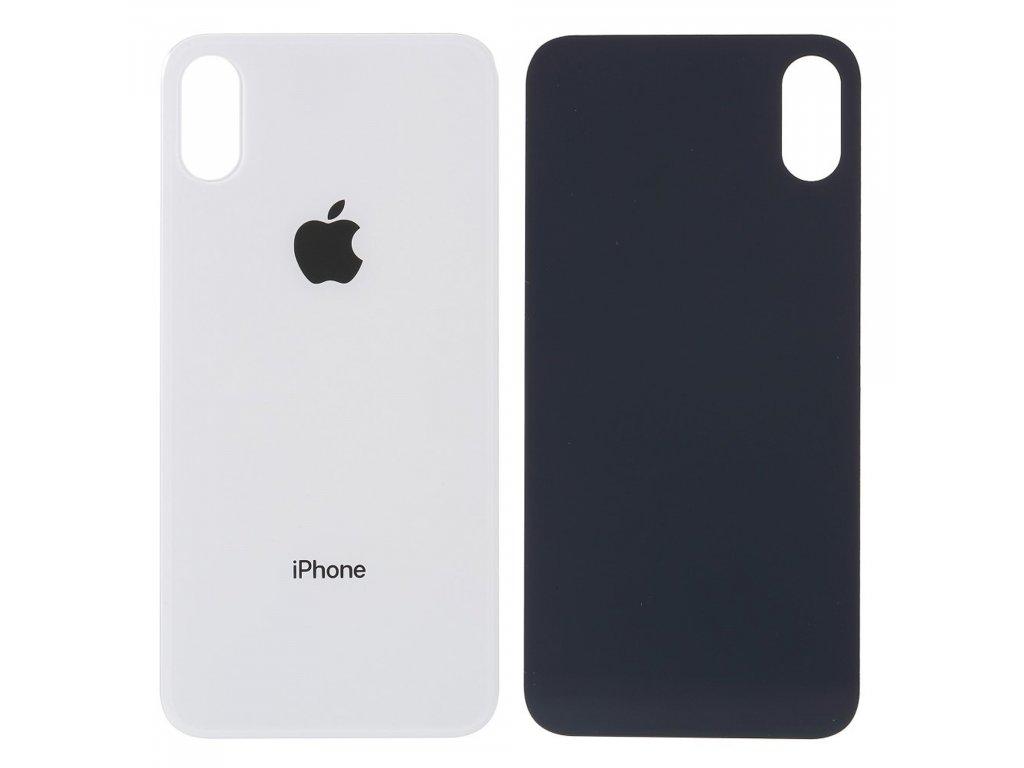Apple iPhone XS zadní kryt baterie bílý s větším otvorem na krytku kamery