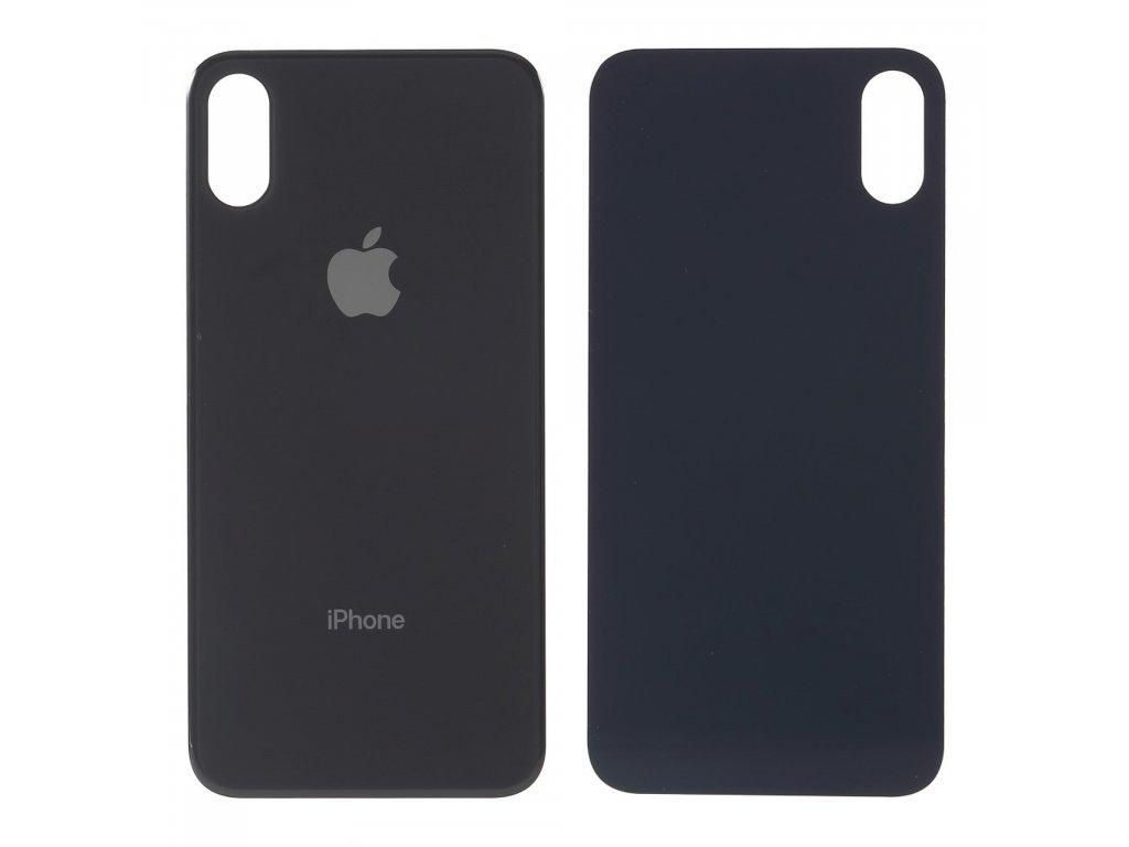 Apple iPhone XS zadní kryt baterie černý s větším otvorem na krytku kamery