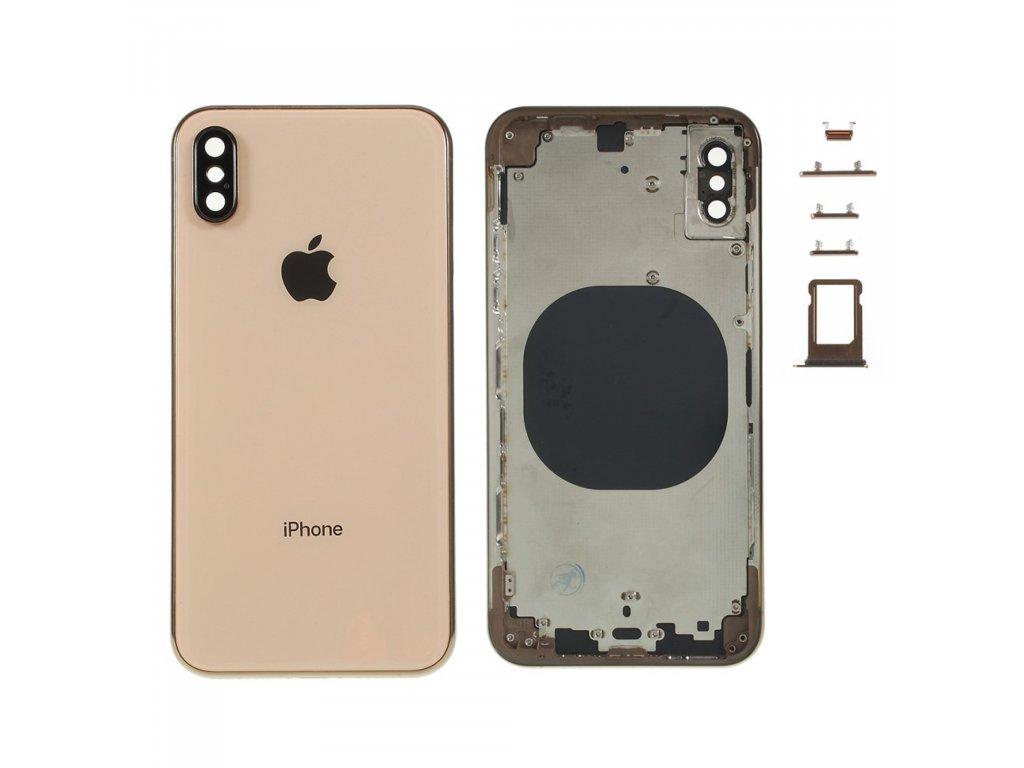 Apple iPhone XS zadní kryt baterie zlatý včetně středového rámečku telefonu