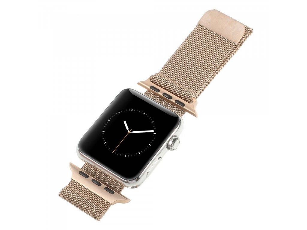 Apple Watch 38mm 40MM řemínek kovový Milanese Loop Milánský tah bronzová
