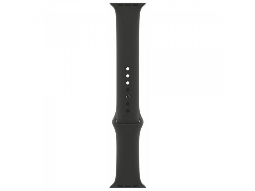 Apple Watch 44 mm originální silikon řemínek pásek černý S/M/L/